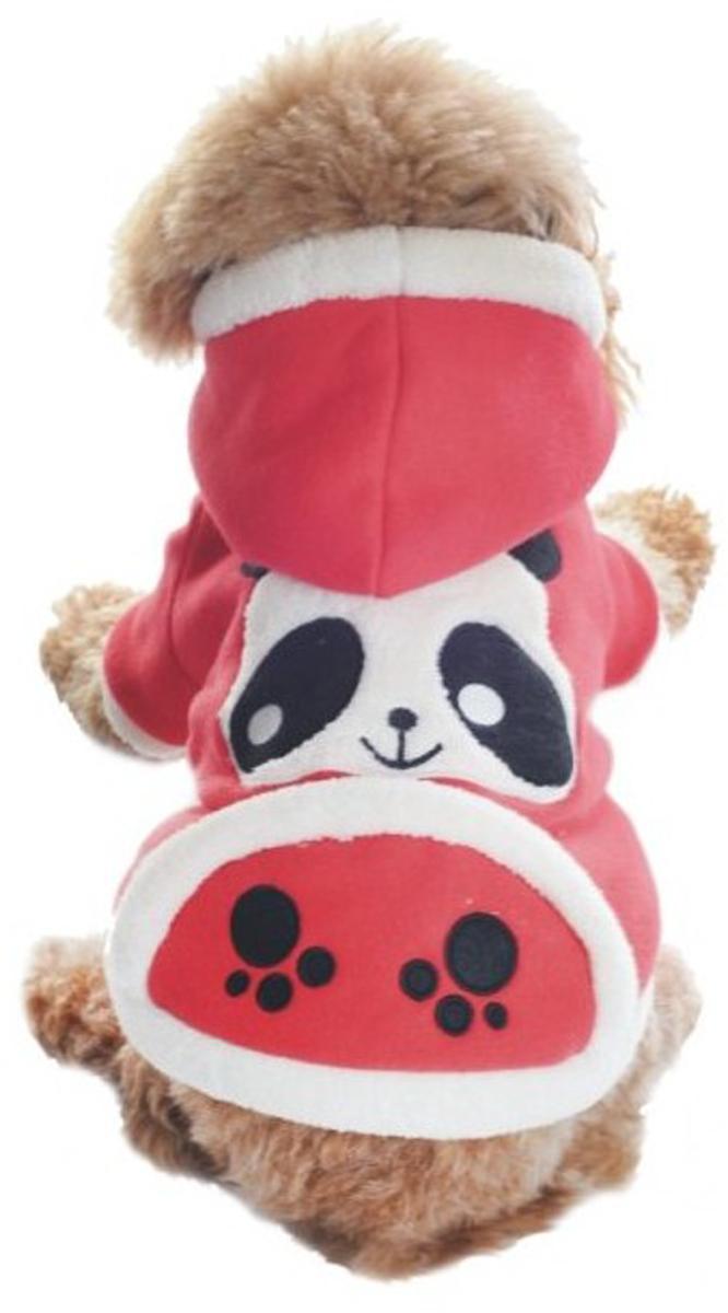 Куртка для собак Dobaz Панды, цвет: красный. ДЛ1106БХЛ. Размер XL куртка для собак dobaz цвет голубой черный да1222схл размер xl
