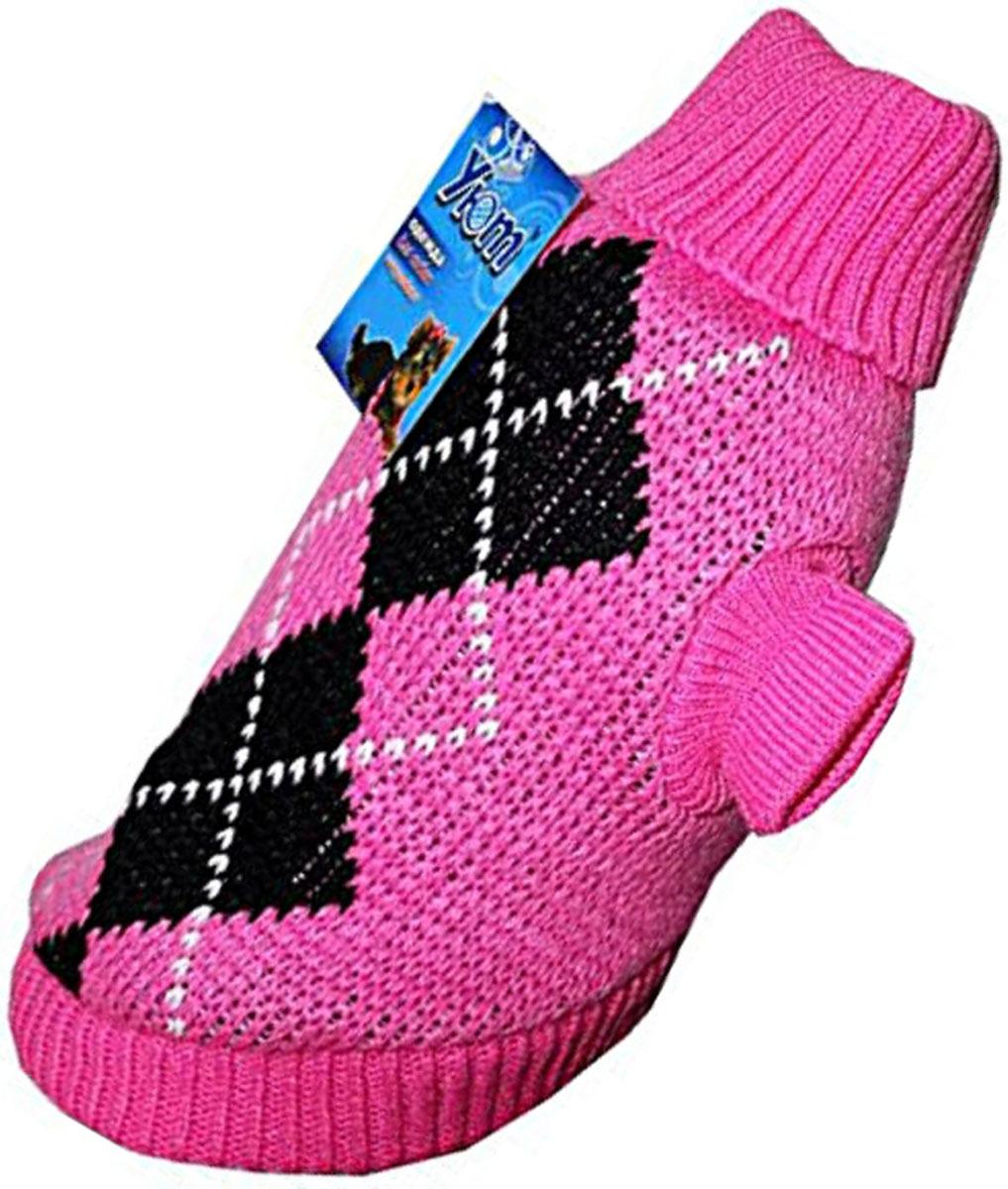 Свитер для собак Уют, для девочки, цвет: розовый. НМ11С. Размер SНМ11СКрасивый вязаный свитер для собак Уют выполнен из акрила. Рукава, воротник и низ изделия дополнены эластичными трикотажными резинками для плотного прилегания. Модель декорирована красивым рисунком в виде ромбов. В таком свитере вашей собачке будет тепло и уютно. Обхват шеи: 24-27 см.Обхват груди: 34-40 см.Длина спинки: 25 см.Одежда для собак: нужна ли она и как её выбрать. Статья OZON Гид