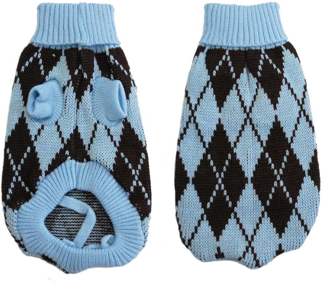 Свитер для собак  Уют , унисекс, цвет: черный, голубой. НМ23М. Размер M - Одежда, обувь, украшения - Одежда