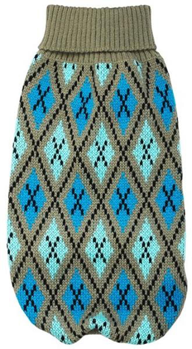 Свитер для собак Уют, унисекс, цвет: серый, голубой. НС16Л. Размер LНС16ЛКрасивый вязаный свитер для собак Уют выполнен из акрила. Рукава, горловина и низ изделия дополнены эластичными трикотажными резинками для плотного прилегания. Модель оформлена красивым узором. В таком свитере вашей собачке будет тепло и уютно. Обхват шеи: 29-33 см.Обхват груди: 46-54 см.Длина спинки: 35 см.Одежда для собак: нужна ли она и как её выбрать. Статья OZON Гид