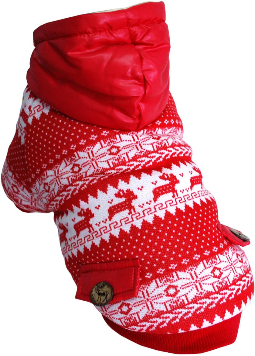 Куртка для собак Pets INN Скандинавия, унисекс, цвет: красный. Пет13ХЛ. Размер XLПет13ХЛКуртка утепленная Pets INN Скандинавия прекрасно подходит для прогулок в холодное время. Модель снабжена подкладкой и капюшоном. Куртка имеет красивый и яркий дизайн.Обхват шеи: 32-36 см.Обхват груди: 53-61 см.Длина спинки: 40 см.Одежда для собак: нужна ли она и как её выбрать. Статья OZON Гид