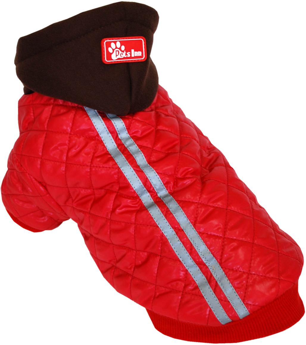 Куртка для собак Pets INN Спорт, унисекс, цвет: красный. Пет15ХЛ. Размер XLПет15ХЛКуртка утепленная Pets INN Спорт прекрасно подходит для прогулок в холодное время. Модель выполнена из материала болонья, снабжена подкладкой и капюшоном. Куртка имеет красивый и яркий дизайн.Обхват шеи: 32-36 см.Обхват груди: 53-61 см.Длина спинки: 40 см.Одежда для собак: нужна ли она и как её выбрать. Статья OZON Гид