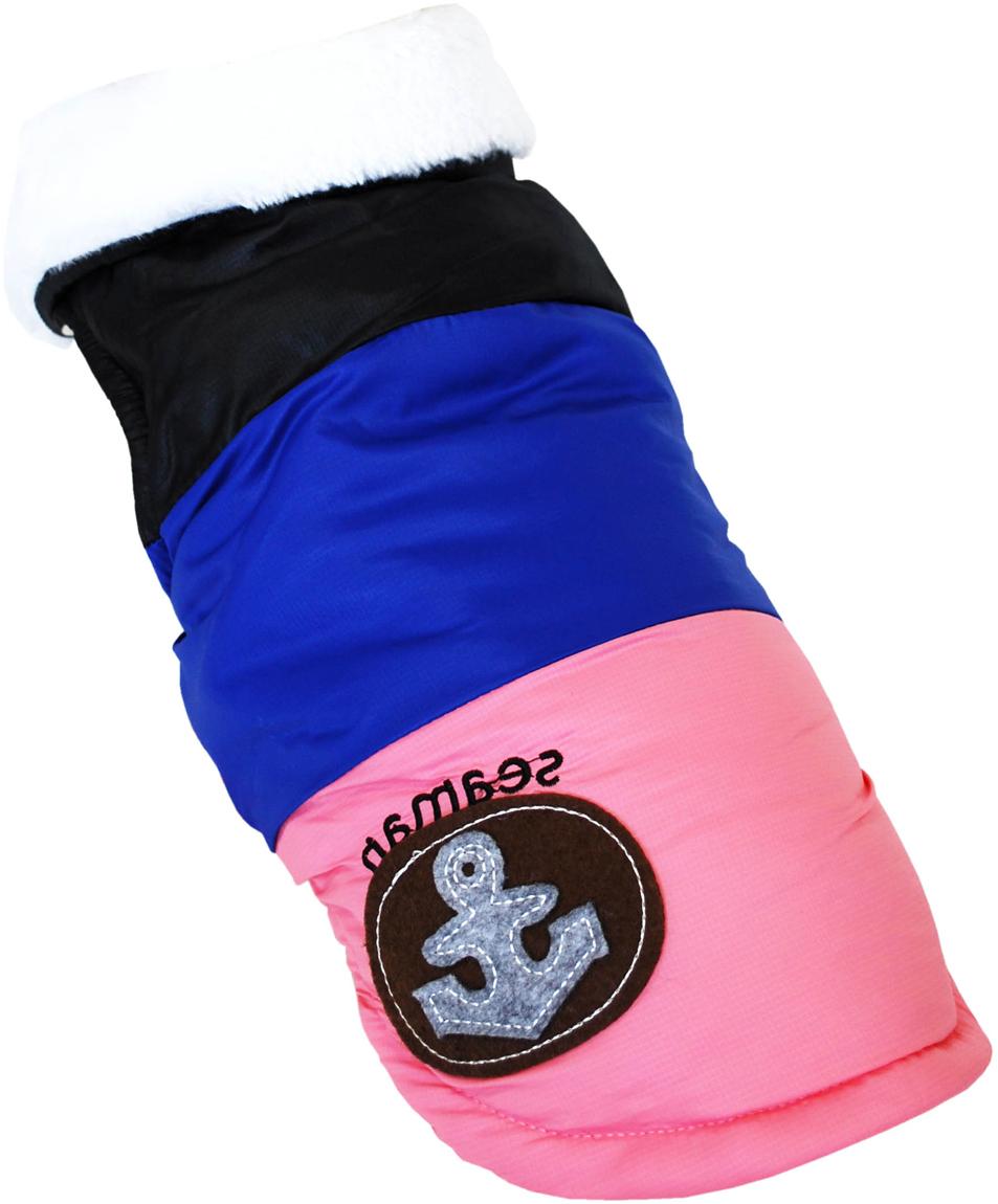 Куртка для собак Pet's INN Якорь, унисекс, цвет: черный, синий, розовый. Пет17ХЛ. Размер XL одежда якорь
