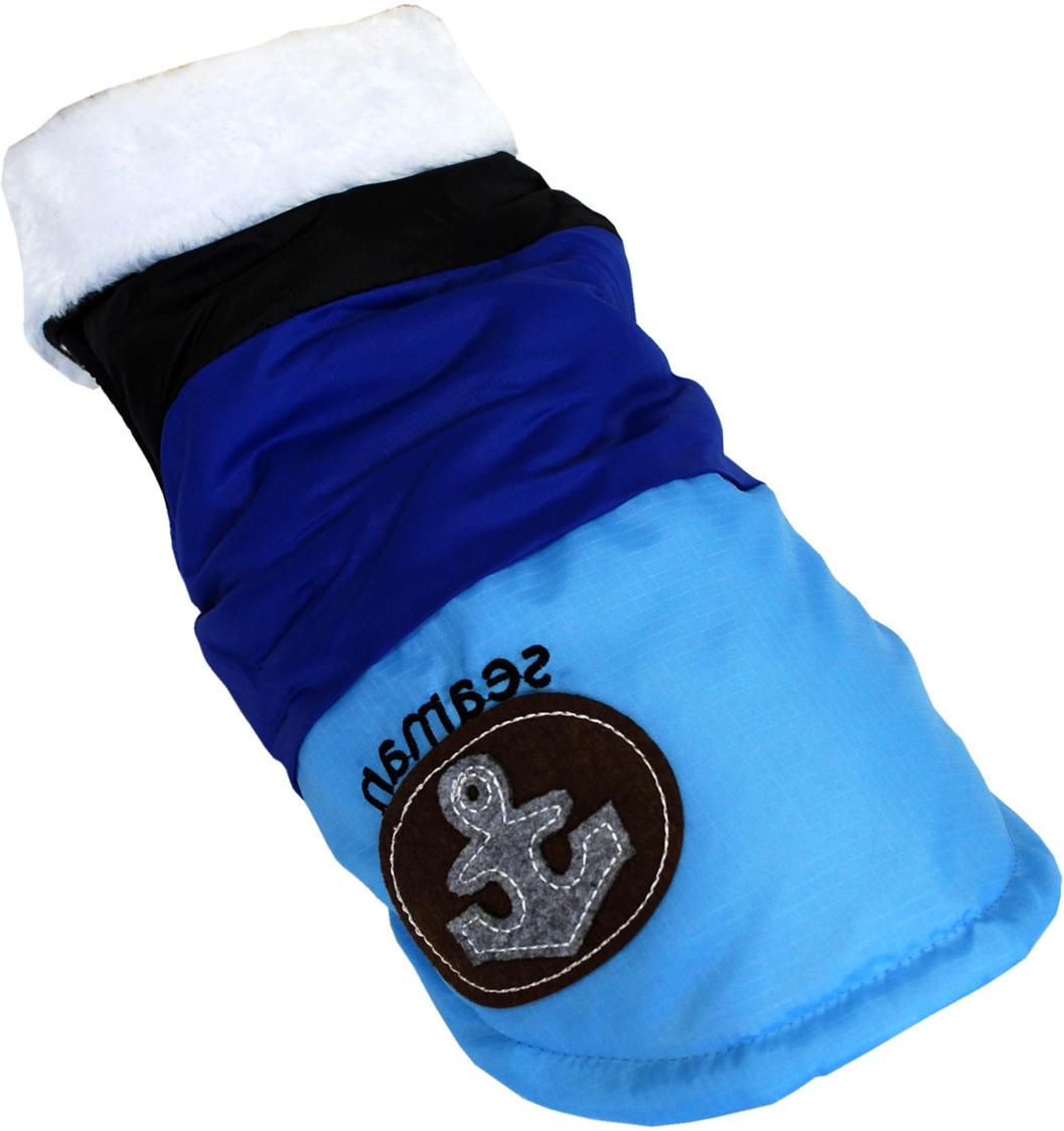 Куртка для собак Pets INN Якорь, унисекс, цвет: черный, синий, голубой. Пет19ХС. Размер XSПет19ХСУтепленная куртка-жилет Pets INN Якорь прекрасно подходит для прогулок в холодное время. Модель выполнена из материала болонья, снабжена подкладкой и меховым воротничком. Куртка имеет красивый и яркий дизайн. Обхват шеи: 22-24 см.Обхват груди: 27-33 см.Длина спинки: 20 см.Одежда для собак: нужна ли она и как её выбрать. Статья OZON Гид