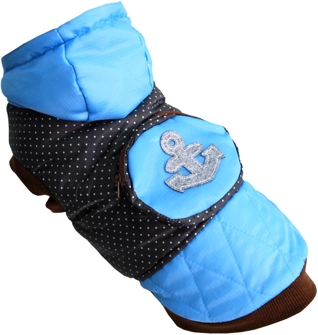 Куртка для собак Pet's INN  Якорь , унисекс, цвет: синий, голубой. Пет20Л. Размер L - Одежда, обувь, украшения - Одежда