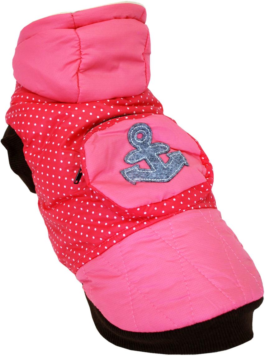 Куртка для собак Pets INN Якорь, для девочки, цвет: розовый. Пет21ХЛ. Размер XLПет21ХЛКуртка утепленная Pets INN Якорь прекрасно подходит для прогулок в холодное время. Модель выполнена из материала болонья, снабжена подкладкой и капюшоном. На спинке расположен карман на молнии. Куртка имеет красивый и яркий дизайн в морском стиле.Обхват шеи: 32-36 см.Обхват груди: 53-61 см.Длина спинки: 40 см.Одежда для собак: нужна ли она и как её выбрать. Статья OZON Гид