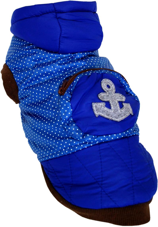 Куртка для собак Pets INN Якорь, цвет: синий. Пет22ХЛ. Размер XLПет22ХЛКуртка утепленная, болонь, с подкладкой и капюшоном. Прекрасно подходит для прогулок в холодное время. Красивый дизайн от известного производителя! Размер по спинке 40 смОбхват шеи: 32-36 см.Обхват груди: 53-61 см.Длина спинки: 40 см.