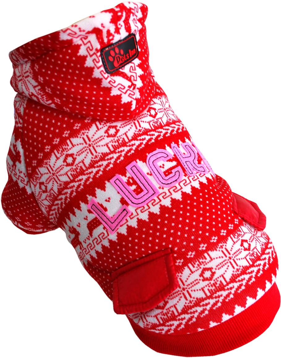 Куртка для собак Pet's INN  Скандинавия. Lucky , унисекс, цвет: красный. Пет23ХЛ. Размер XL - Одежда, обувь, украшения - Одежда