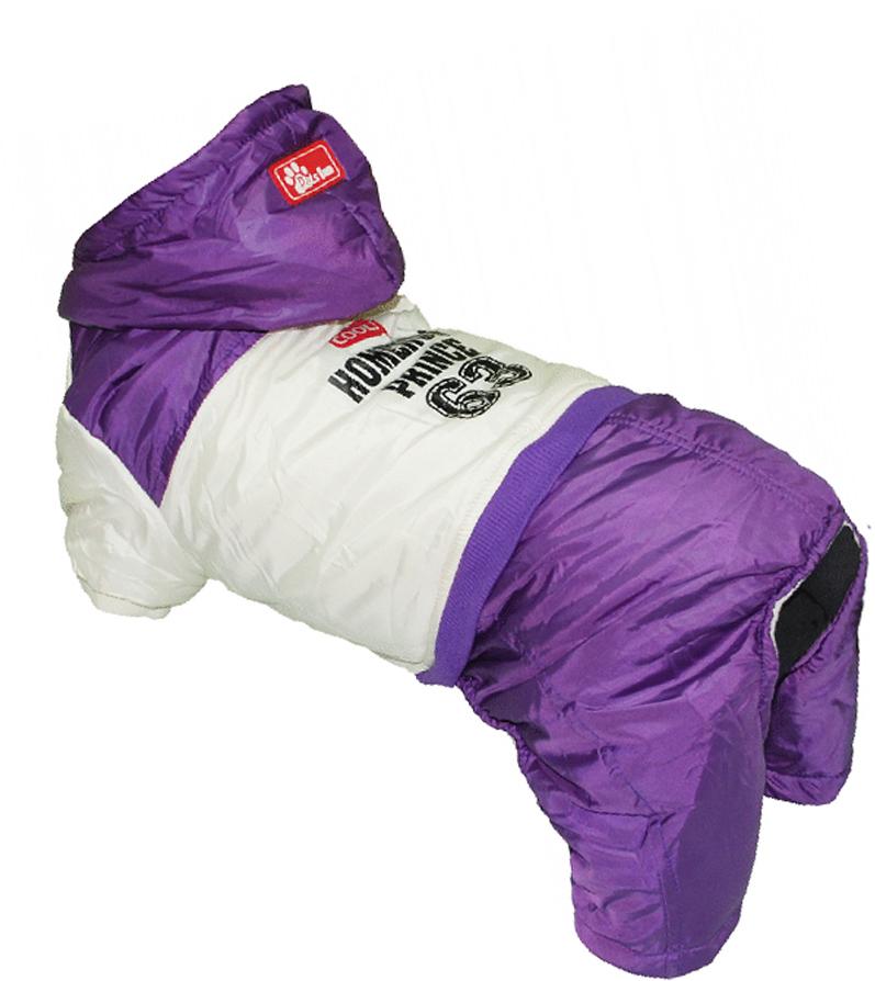 Комбинезон для собак Pets INN Homerun Prince, цвет: фиолетовый, бежевый. Петс04ХЛ. Размер XLПетс04ХЛКомбинезон с капюшоном Pets INN подходит для длительных прогулок. Комфортный и практичный. Обхват шеи: 32-36 см.Обхват груди: 53-61 см.Длина спинки: 40 см.Одежда для собак: нужна ли она и как её выбрать. Статья OZON Гид