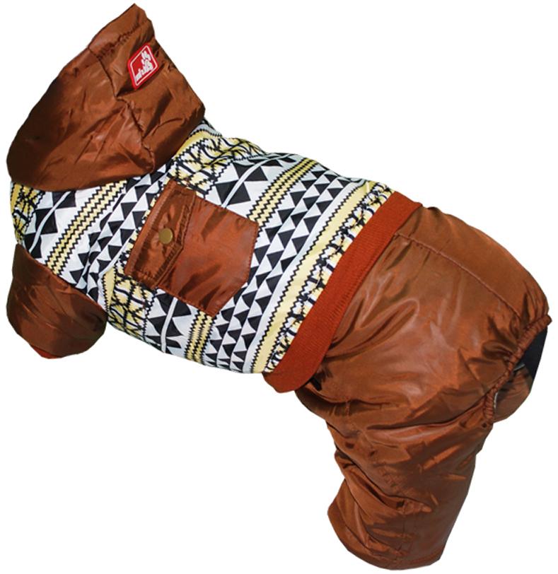 Комбинезон для собак Pets INN, цвет: коричневый. Петс05С. Размер SПетс05СКомбинезон с капюшоном Pets INN подходит для длительных прогулок. Комфортный и практичный. Обхват шеи: 24-27 см.Обхват груди: 34-40 см.Длина спинки: 25 см.Одежда для собак: нужна ли она и как её выбрать. Статья OZON Гид