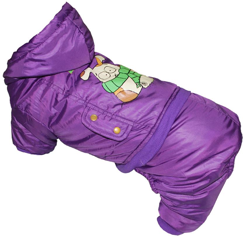 Комбинезон для собак Pets INN BULCIN, цвет: фиолетовый. Петс06М. Размер MПетс06МКомбинезон с капюшоном Pets INN подходит для длительных прогулок. Комфортный и практичный. Обхват шеи: 27-30 см.Обхват груди: 39-47 см.Длина спинки: 30 см.Одежда для собак: нужна ли она и как её выбрать. Статья OZON Гид