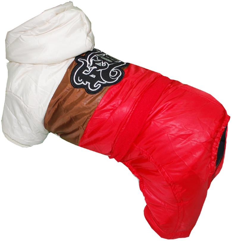 Комбинезон для собак  Pet's INN , цвет: красный, бежевый, коричневый. Петс07С. Размер S - Одежда, обувь, украшения - Одежда
