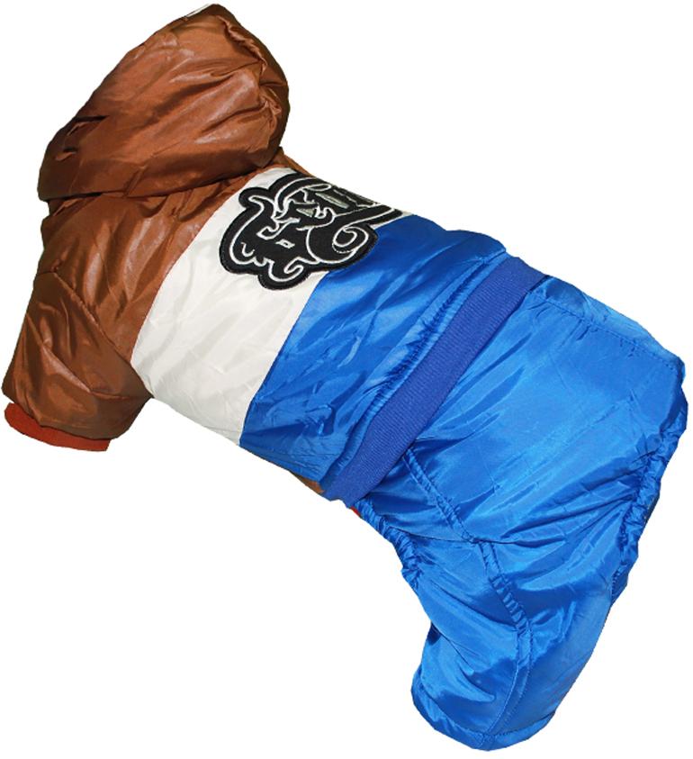 Комбинезон для собак Pets INN, цвет: синий, бежевый, коричневый. Петс09ХС. Размер XSПетс09ХСКомбинезон с капюшоном Pets INN подходит для длительных прогулок. Комфортный и практичный. Обхват шеи: 22-24 см.Обхват груди: 27-33 см.Длина спинки: 20 см.Одежда для собак: нужна ли она и как её выбрать. Статья OZON Гид