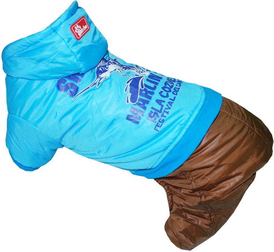 Комбинезон для собак Pets INN Рыба-Меч, цвет: синий, коричневый. Петс11С. Размер SПетс11СКомбинезон с капюшоном Pets INN Рыба-Меч подходит для длительных прогулок. Комфортный и практичный. Обхват шеи: 24-27 см.Обхват груди: 34-40 см.Длина спинки: 25 см.Одежда для собак: нужна ли она и как её выбрать. Статья OZON Гид