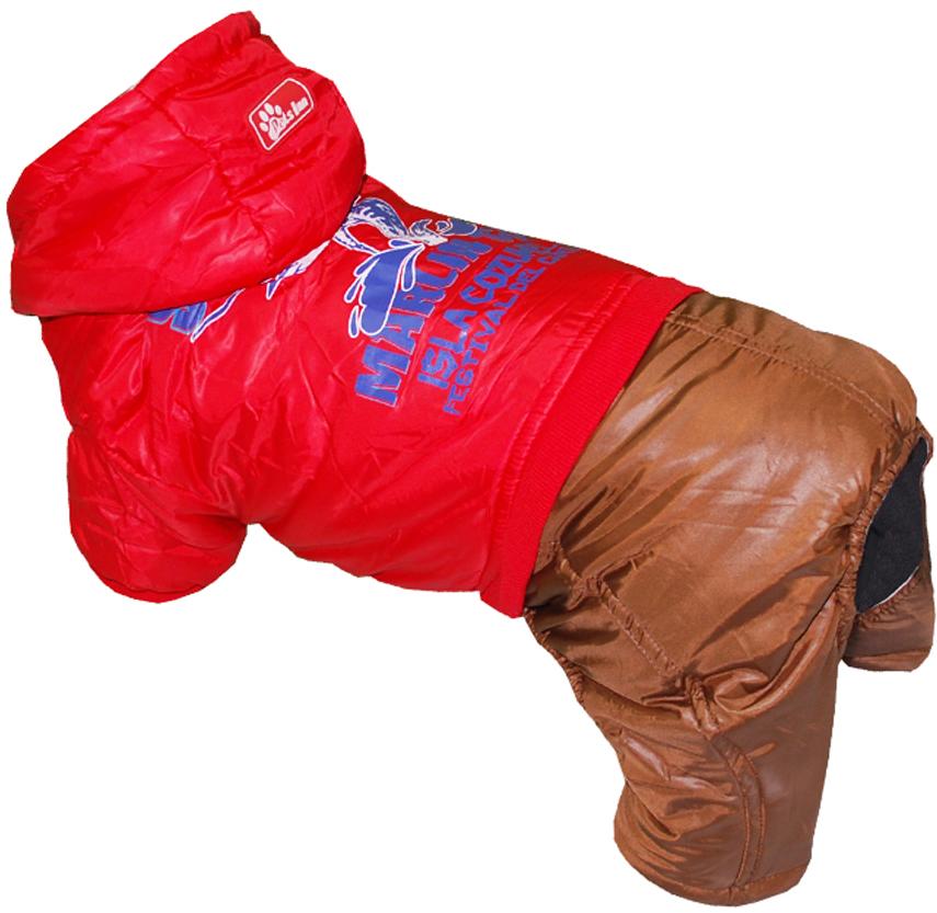 Комбинезон для собак Pet's INN Рыба-Меч, цвет: красный, коричневый. Петс12ХС. Размер XS комбинезон для собак pret a pet цвет белый красный размер xs
