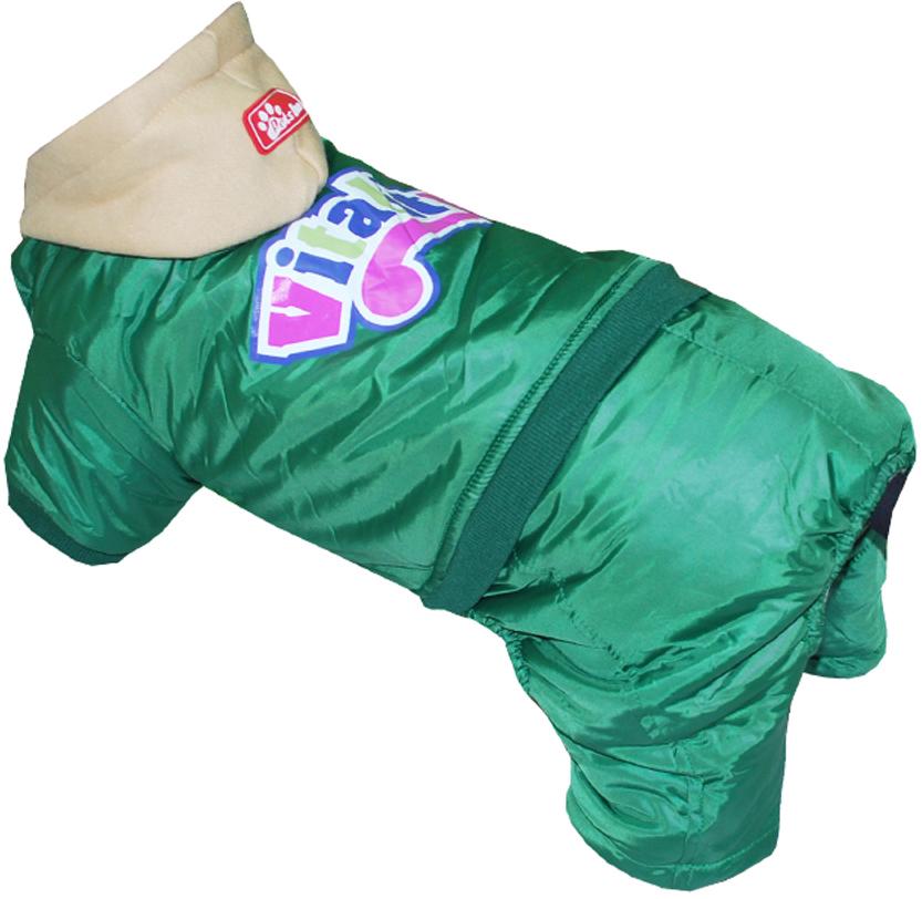 Комбинезон для собак Pets INN VITALITY, цвет: зеленый. Петс13М. Размер MПетс13МКомбинезон с капюшоном Pets INN VITALITY подходит для длительных прогулок. Комфортный и практичный. Обхват шеи: 27-30 см.Обхват груди: 39-47 см.Длина спинки: 30 см.Одежда для собак: нужна ли она и как её выбрать. Статья OZON Гид