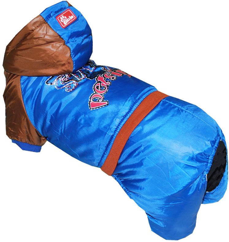 Комбинезон для собак Pets INN Самолет, цвет: синий. Петс16С. Размер SПетс16СКомбинезон с капюшоном. Подходит для длительных прогулок. Комфортный и практичный. Обхват шеи: 24-27 см.Обхват груди: 34-40 см.Длина спинки: 25 см.