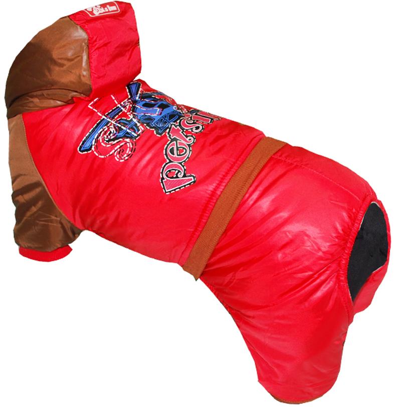 Комбинезон для собак Pets INN Самолет, цвет: красный. Петс17Л. Размер LПетс17ЛКомбинезон с капюшоном Pets INN Самолет подходит для длительных прогулок. Комфортный и практичный. Обхват шеи: 29-33 см.Обхват груди: 46-54 см.Длина спинки: 35 см.