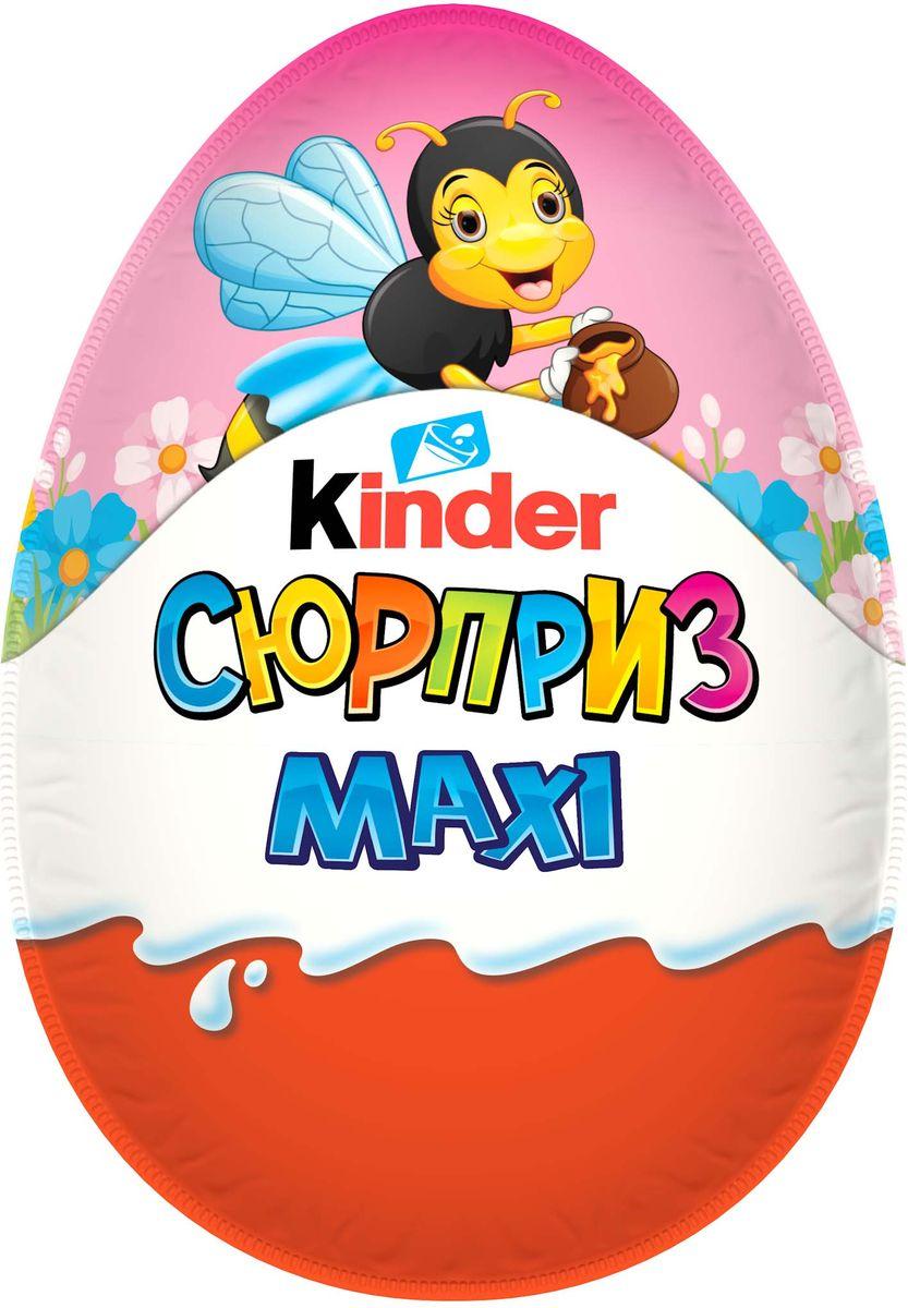 Kinder Сюрприз Maxi Весна яйцо из молочного шоколада с игрушкой внутри, 12 шт по 100 г недорого