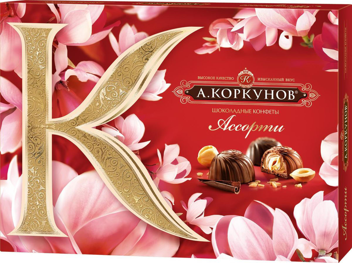 А.Коркунов весенняя коллекция Ассорти конфеты темный и молочный шоколад, 110 г шоколадные годы конфеты ассорти 190 г