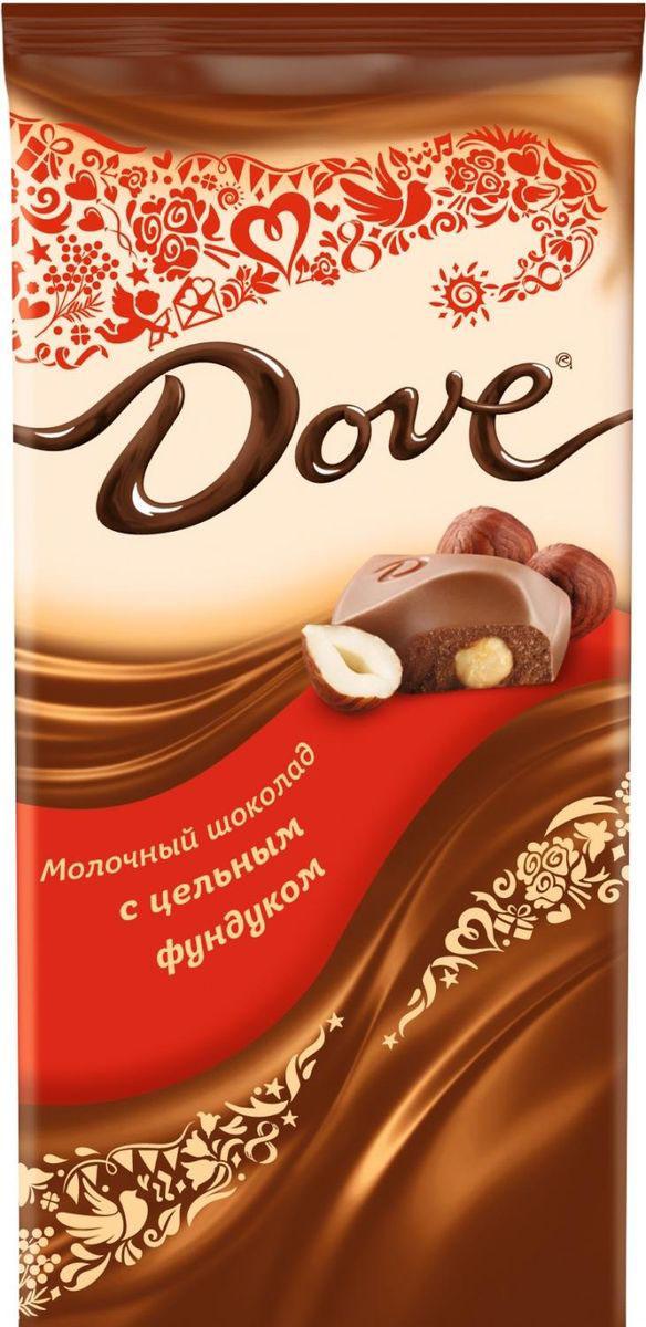 Dove весенняя коллекция молочный шоколад с цельным фундуком , 90 г райская птица молочный шоколад 38% с клубникой 85 г