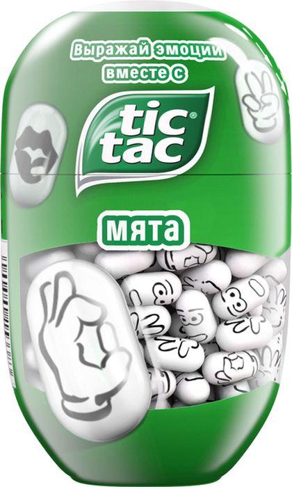 Tic Tac Эмоции драже мята, 98 г тик так детские наручные часы тик так h116 1 узоры