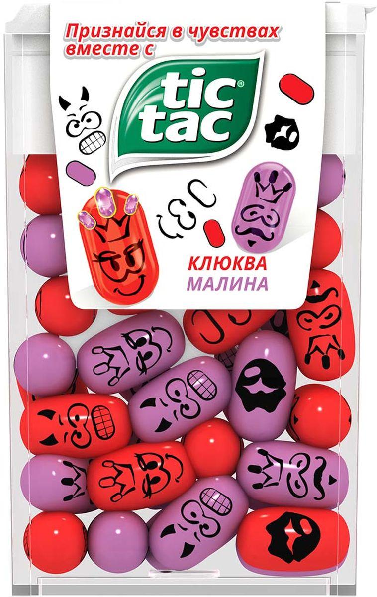 Tic Tac Любовь драже малина - клюква, 16 г тик твистер купить