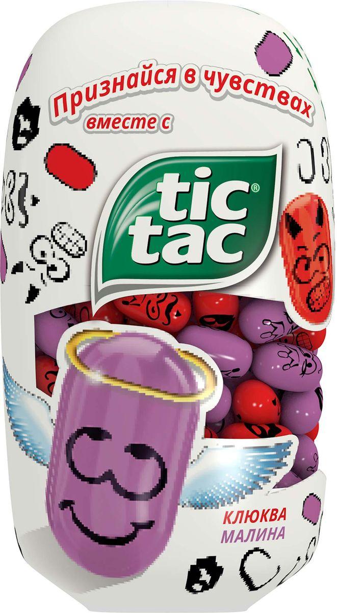 Tic Tac Любовь драже малина - клюква, 98 г8000500274385Тик Так – это освежающее драже c ярким и бодрящим вкусом в удобной упаковке. Тик Так пришел на российский рынок в 90-ые годы 20 века и по сей день является любимым и хорошо знакомым взрослым и детям продуктом. Мята, Апельсин, Клубничный Микс и Мятный Микс – калейдоскоп вкусов Тик Так дарит заряд свежести и позитивной энергии. Под тонкой ванильной оболочкой скрывается уникальный вкус и источник свежести. Это больше, чем двойной эффект и второе дыхание! Яркое драже Тик Так с незабываемо свежими вкусами поможет наполнить твой день яркими моментами!