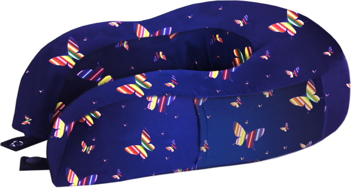 Подушка для путешествий Mettle  Butterfly , цвет: синий - Подушки, пледы, коврики