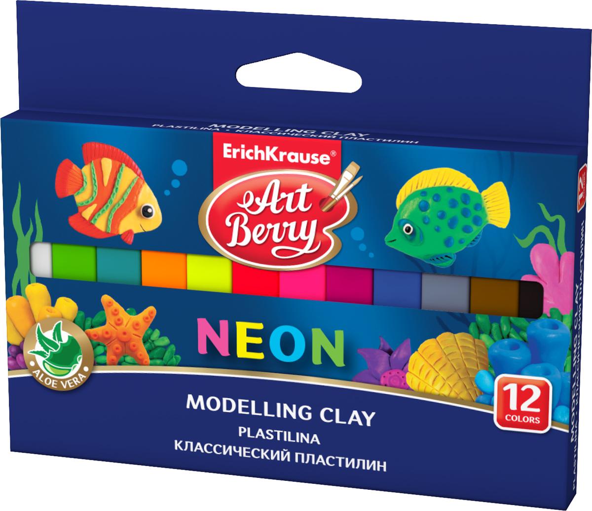 Erich Krause Пластилин Art Berry Neon 12 цветов 41766ВВ2280Пластилин ArtBerry с Алоэ Вера станет прекрасным подарком для вашего ребенка.Пластилин изготовлен полностью из экологический материалов.Алоэ Вера, входящая в состав пластилина, обладает бактерицидными свойствами и увлажняющим эффектом.В упаковке 12 видов пластилина разных неоновых цветов.