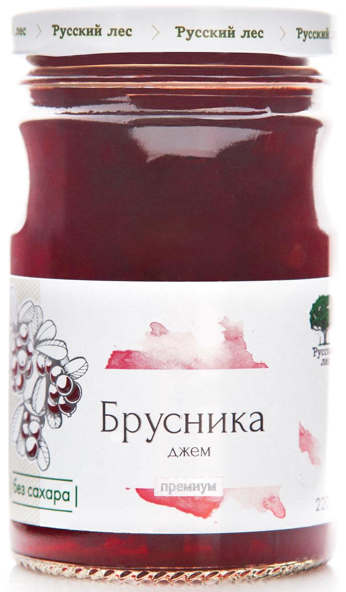 Русский лес Премиум джем из брусники без сахара, 220 г изюм каждый день 150г