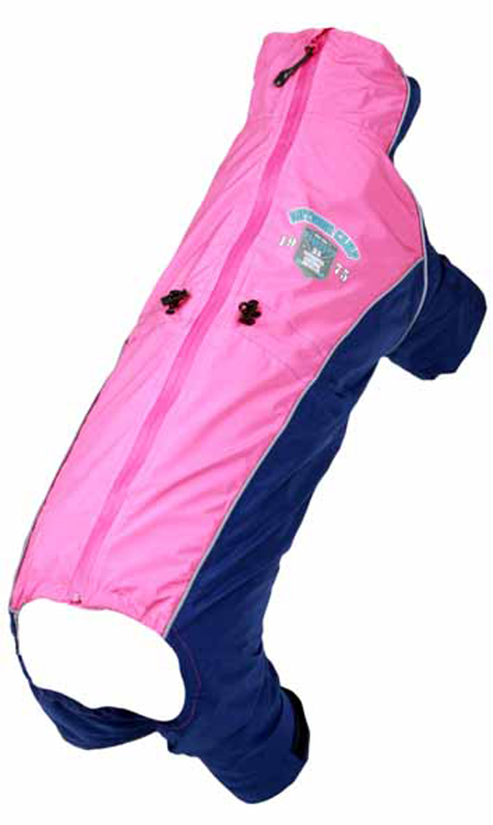 Комбинезон для собак Dobaz, водонепроницаемый, цвет: розовый, черный. ДА13035А5ХЛ. Размер 5XLДА13035А5ХЛВеликолепный, супер легкий и тонкий комбинезон Dobaz выполнен из водонепроницаемого материала. Изделие удобно застегивается молнией на спинке. Дополнительно комбинезон подгоняется по размеру собаки кулисками на животе. Рукава и штанины средней длины. Подойдет для сырой прохладной погоды.Обхват шеи: 51 см.Обхват груди: 79 см.Длина спинки: 56 см.Одежда для собак: нужна ли она и как её выбрать. Статья OZON Гид
