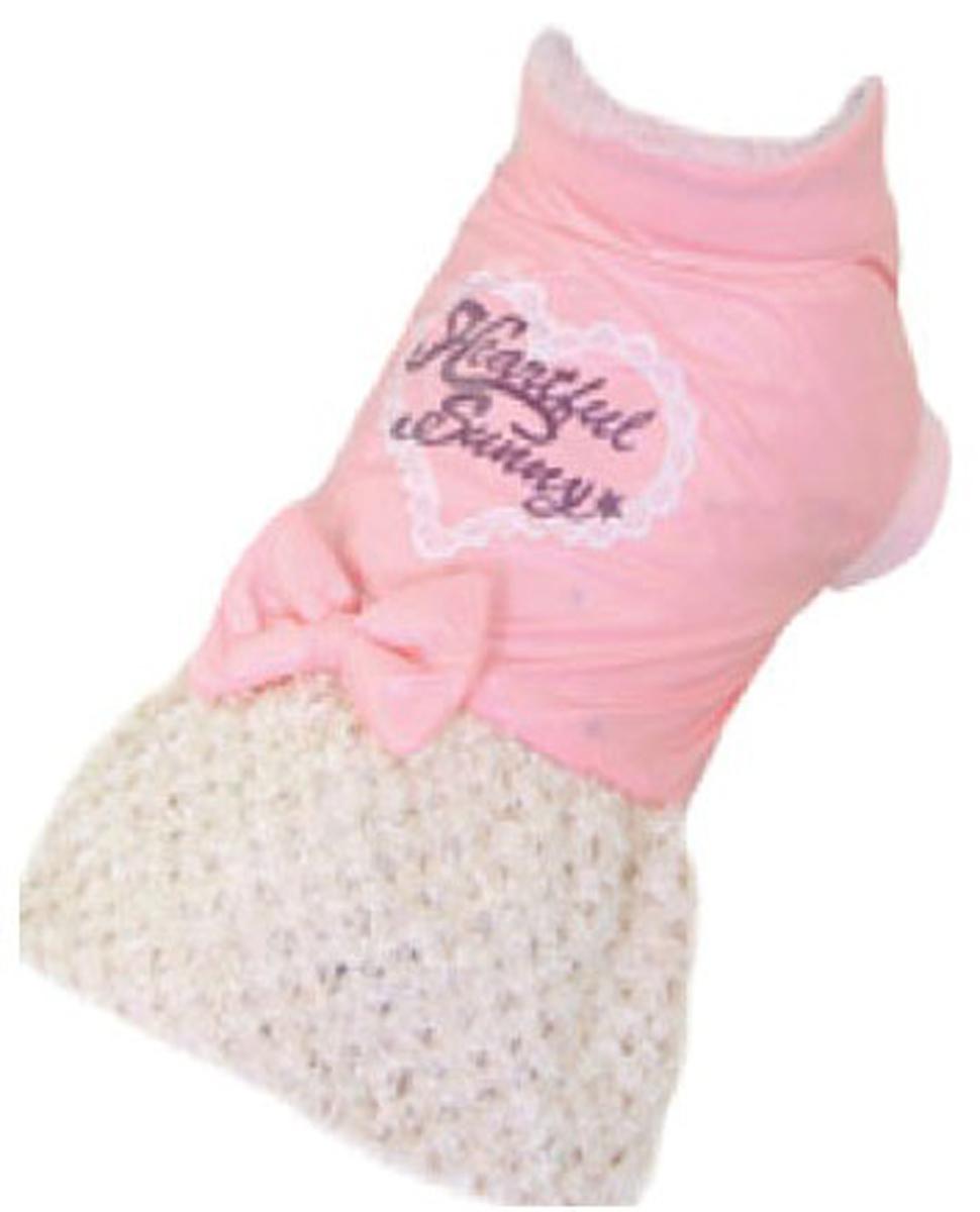 Платье для собак Dobaz, утепленное, цвет: розовый, бежевый. ДА13070АЛ. Размер LДА13070АЛПлатье для собак Dobaz - великолепное дополнение в гардеробе вашего питомца. Модель предназначена для прогулок в прохладное время года. Она пошита из мягкого материала и легко одевается. Платье имеет короткий рукавчик и бант на спине. Оно удобно и комфортно во время прогулки.Обхват шеи: 31 см.Обхват груди: 48 см.Длина спинки: 33 см.Одежда для собак: нужна ли она и как её выбрать. Статья OZON Гид