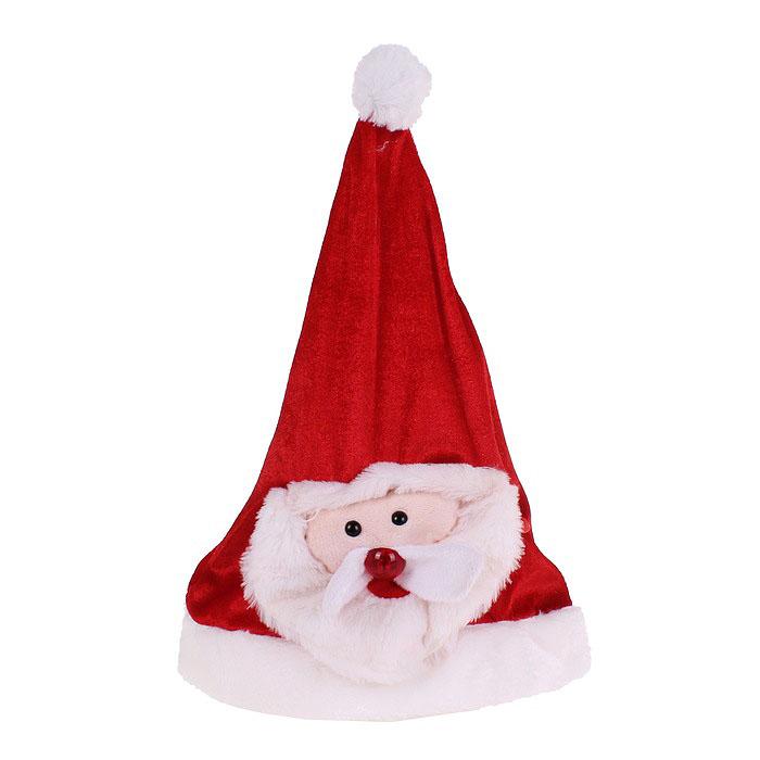 Sima-land Карнавальный колпак Дед Мороз музыкальный 333852 дед мороз в синем 30 см мех муз песня в лесу родилась елочка