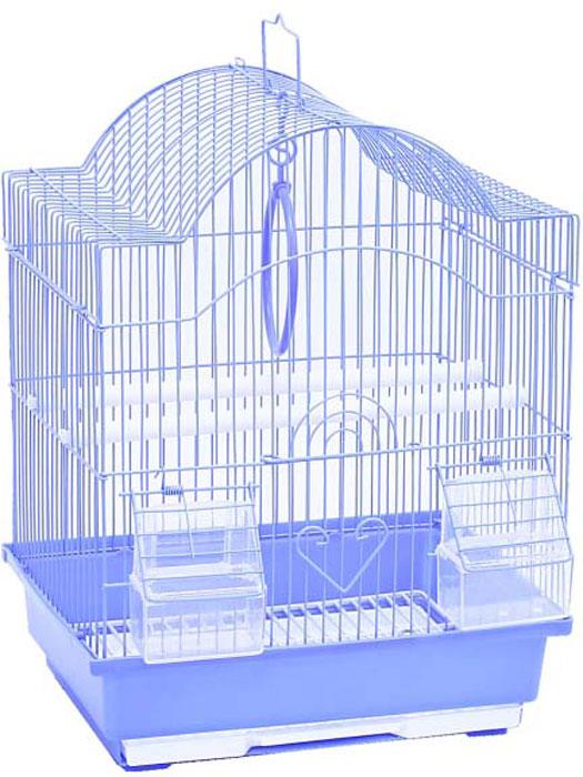 Клетка для птиц фигурная №1, укомплектованная, 30 х 23 х 39 смДКп113/кКлетка №1, выполненная из пластика и металла, предназначена для мелких птиц. Изделие состоит из большого поддона и решетки. Клетка удобна виспользовании илегко чистится. Она оснащена жердочками, кольцом дляптицы, кормушками и подвижной ручкойдля удобной переноски.