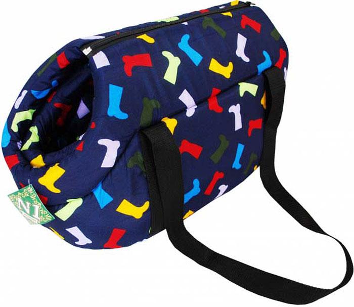 Сумка-переноска для животных №1 Фэшн, цвет: синий, красный, 55 х 31 х 29 см сумка переноска для животных теремок цвет голубой синий белый 44 х 19 х 20 см