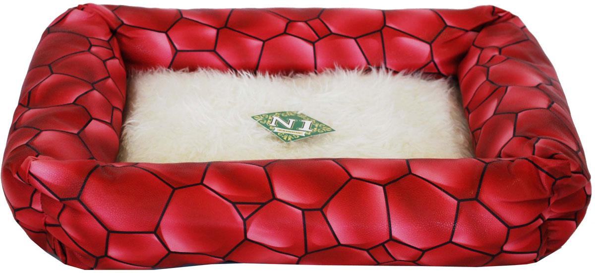 Лежак №1  Фэшн , цвет: красный, 48 х 41 х 11 см - Лежаки, домики, спальные места