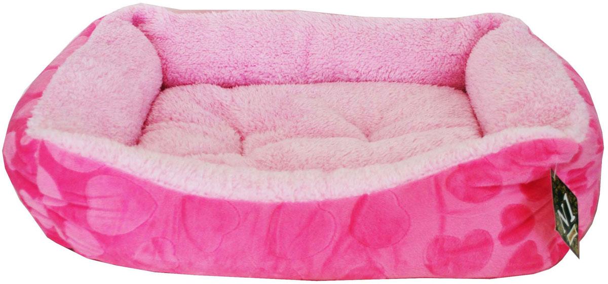 Лежанка №1 Фэшн, цвет: розовый, 48 х 41 х 11 см810404Теплый и мягкий лежак №1 с мехом идеально подходит для тех, кто любит комфорт и уют. Позаботьтесь о том, чтобы у вашего питомца всегда было свое место, на которое ему бы хотелось вернуться. Хорошо сшитый лежак №1 - очень надежный и практичный. На нем ваш питомец не замерзнет и не заболеет.