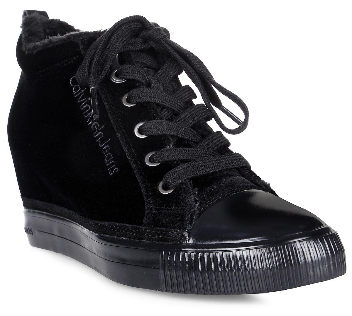 Сникеры женские Calvin Klein Jeans, цвет: черный. R0530. Размер 39