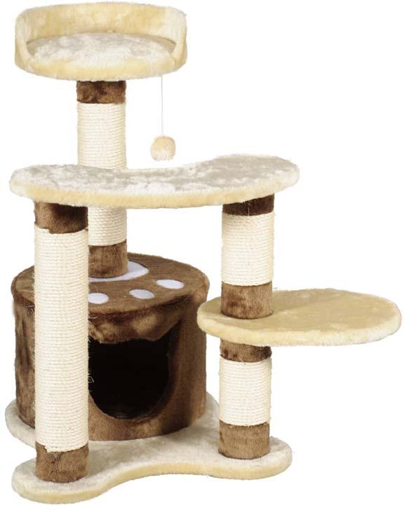 Игровой комплекс для кошек  Уют , с тремя когтеточками, лежанкой и игрушкой - Когтеточки и игровые комплексы
