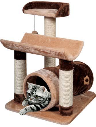 Игровой комплекс для кошек  Уют , с двумя лежаками, цилиндром и игрушкой - Когтеточки и игровые комплексы