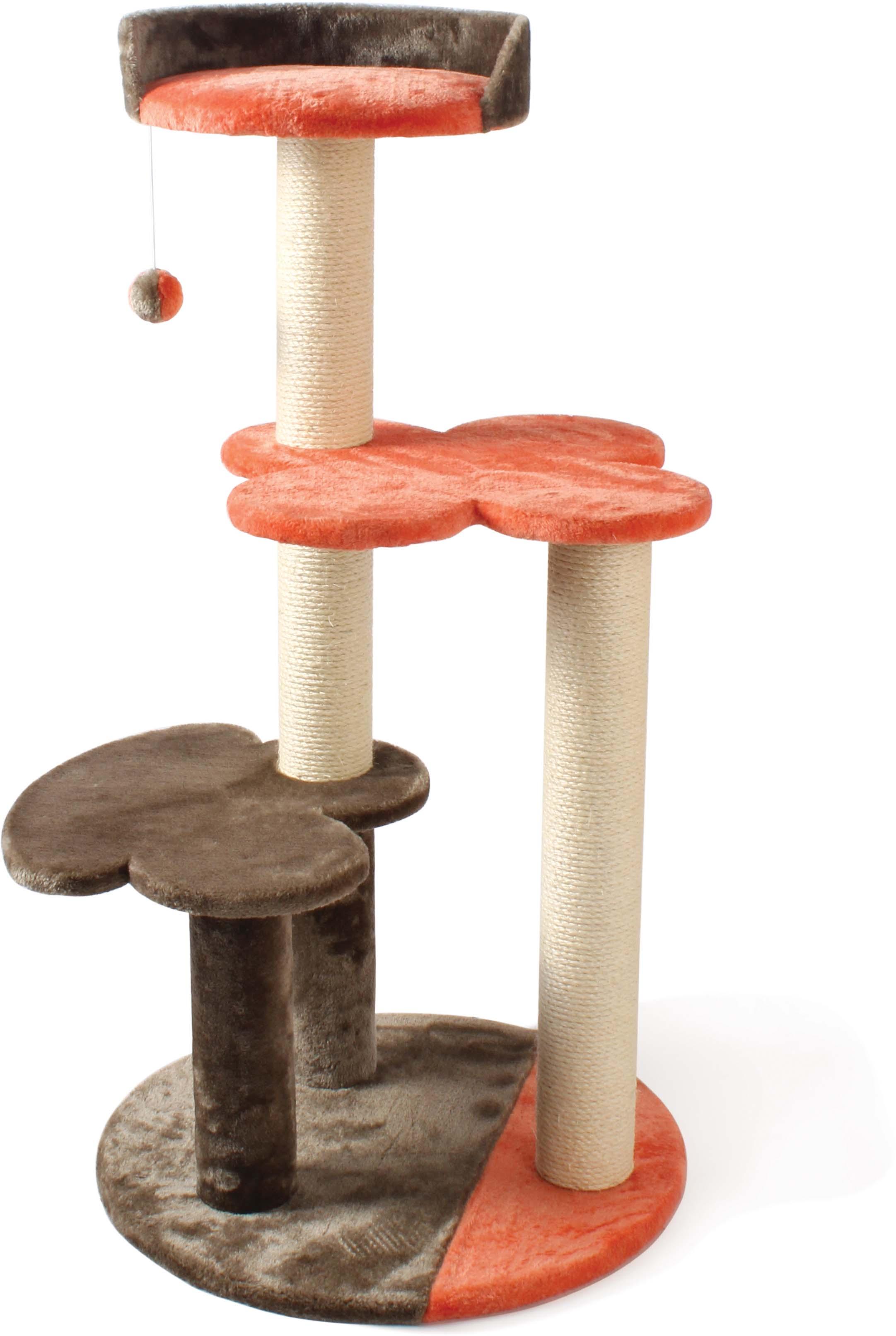 Игровой комплекс для кошек  Уют , 3-этажный, с лежаком, когтеточкой и игрушкой - Когтеточки и игровые комплексы