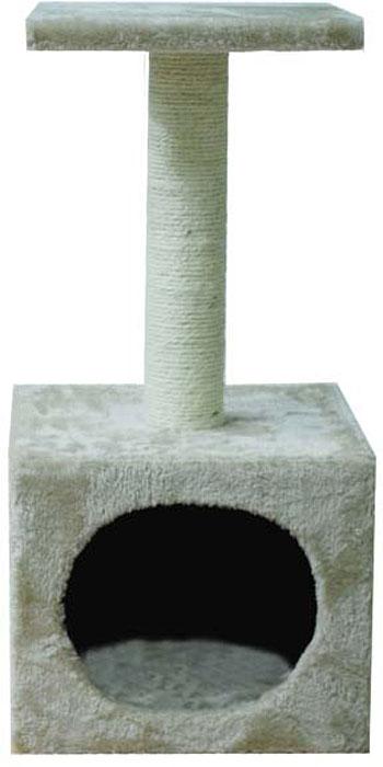 Домик для кошек Уют, с когтеточкой и полкой, 30 х 30 х 60 смНМ824Домик для кошек Уют с когтеточкой и полкой - необходимый аксессуар для вашего питомца. Она сбережет в целости и сохранности ваши обои, мебель и предметы интерьера. Эта когтеточка не только удовлетворит естественную потребность вашего питомца точить когти, но и станет любимым местом для игр и сна. Выполнена из натурального сизаля.