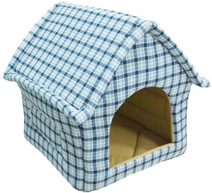 Домик для животных Уют Fashion, цвет: сине-белая клетка, 37 х 35 х 37 смДБ14002СЛКак известно, животные любят прятаться в самые укромные места в доме, особенно, если они не желают, чтобы кто-то нарушал их покой.Такая мягкая и уютная будка-домик Уют Fashion, выполненная из практичных теплых тканей, придется вашему любимцу по вкусу. Как правило, питомцы выбирают одно-два места для отдыха - вот туда и поставьте домик.