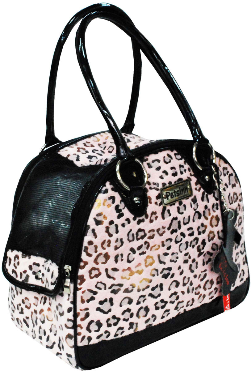 Сумка-переноска для животных Pets Inn, цвет: розовый, леопард, 33 х 17 х 27 смСм11Разборная сумка-переноска для животных Pets Inn выполнена из плотной ткани. Застежка на молнии. Короткая ручка для переноски в руке. Торцевые стенки снабжены сеткой для вентиляции.Сумка-переноска Pets Inn идеально подойдет для вашего питомца.