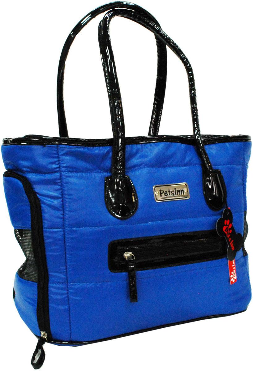 Сумка-переноска для животных Pets Inn, цвет: синий, 36 х 32 х 20 см сумка переноска для животных теремок цвет голубой синий белый 44 х 19 х 20 см