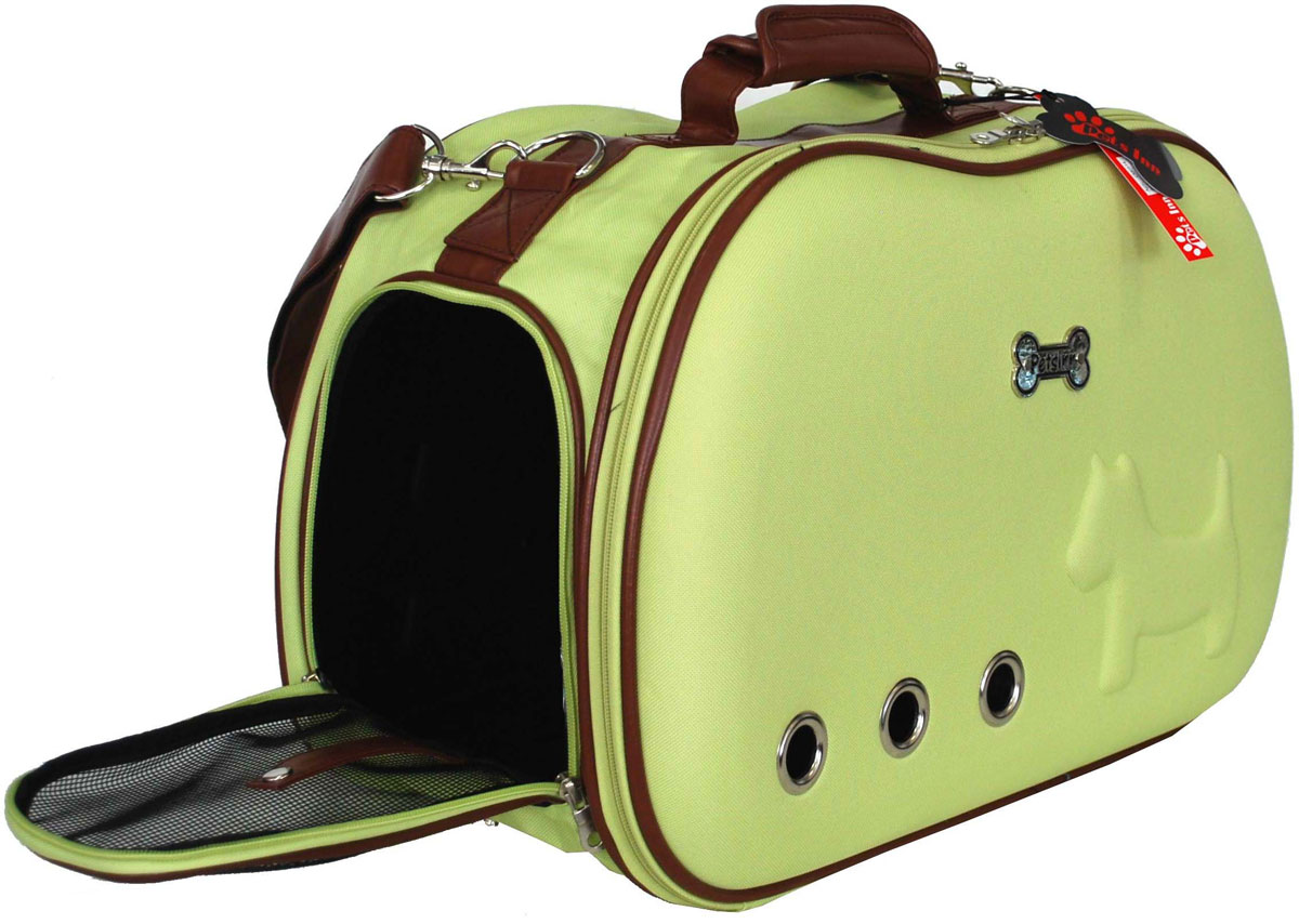 Сумка-переноска для животных Pets Inn, цвет: зеленый, 50 х 20 х 31 см сумка переноска для животных теремок цвет голубой синий белый 44 х 19 х 20 см