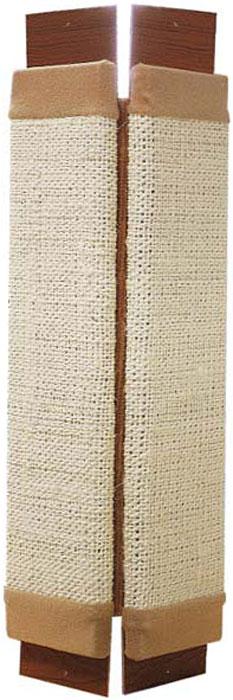 Когтеточка навесная Уют, угловая, сизаль, 62 х 31 х 4 см полка навесная сканд мебель шервуд пш 03