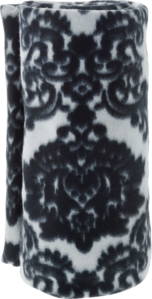 Плед Коллекция, цвет: черный, белый, 155 х 195 смОПФН-155х195_черный, белыйПлед из мягкого материала согреет вас холодными вечерами. Он отлично впишется в ваш интерьер.