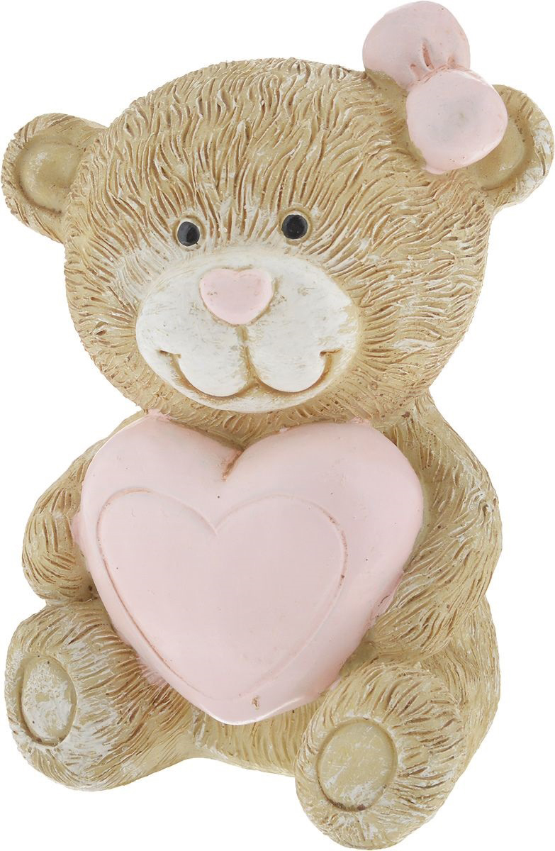 Фигурка декоративная Magic Home Мишка с сердцем, 6,7 х 6,3 х 9,3 см цена